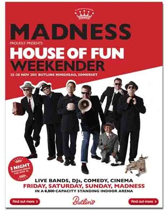 Watch the video, get the download or listen to madness - house of fun for free